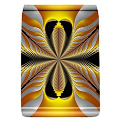 Fractal Yellow Butterfly In 3d Glass Frame Flap Covers (s)