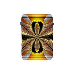 Fractal Yellow Butterfly In 3d Glass Frame Apple iPad Mini Protective Soft Cases