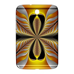 Fractal Yellow Butterfly In 3d Glass Frame Samsung Galaxy Note 8 0 N5100 Hardshell Case