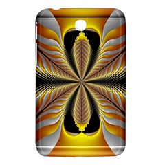 Fractal Yellow Butterfly In 3d Glass Frame Samsung Galaxy Tab 3 (7 ) P3200 Hardshell Case