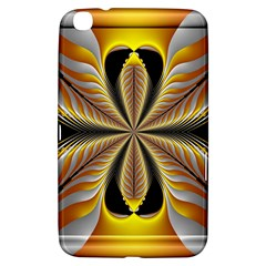Fractal Yellow Butterfly In 3d Glass Frame Samsung Galaxy Tab 3 (8 ) T3100 Hardshell Case