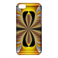 Fractal Yellow Butterfly In 3d Glass Frame Apple Iphone 5c Hardshell Case