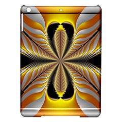Fractal Yellow Butterfly In 3d Glass Frame iPad Air Hardshell Cases