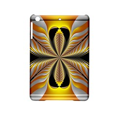 Fractal Yellow Butterfly In 3d Glass Frame iPad Mini 2 Hardshell Cases