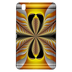 Fractal Yellow Butterfly In 3d Glass Frame Samsung Galaxy Tab Pro 8.4 Hardshell Case