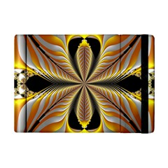 Fractal Yellow Butterfly In 3d Glass Frame iPad Mini 2 Flip Cases