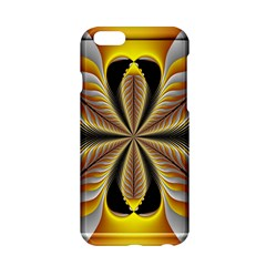 Fractal Yellow Butterfly In 3d Glass Frame Apple Iphone 6/6s Hardshell Case