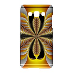 Fractal Yellow Butterfly In 3d Glass Frame Samsung Galaxy A5 Hardshell Case