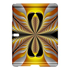 Fractal Yellow Butterfly In 3d Glass Frame Samsung Galaxy Tab S (10 5 ) Hardshell Case