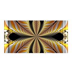 Fractal Yellow Butterfly In 3d Glass Frame Satin Wrap