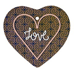 I Love You Love Background Ornament (heart)