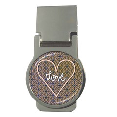 I Love You Love Background Money Clips (Round)