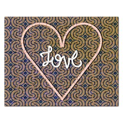 I Love You Love Background Rectangular Jigsaw Puzzl