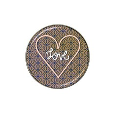 I Love You Love Background Hat Clip Ball Marker