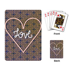 I Love You Love Background Playing Card
