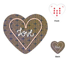 I Love You Love Background Playing Cards (heart)