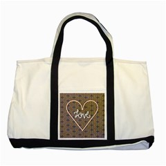 I Love You Love Background Two Tone Tote Bag