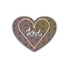 I Love You Love Background Heart Coaster (4 Pack)
