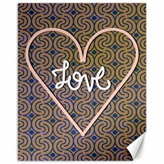 I Love You Love Background Canvas 11  X 14