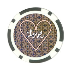 I Love You Love Background Poker Chip Card Guard