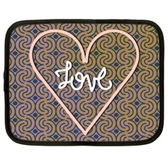 I Love You Love Background Netbook Case (xl)