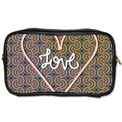 I Love You Love Background Toiletries Bags 2-Side