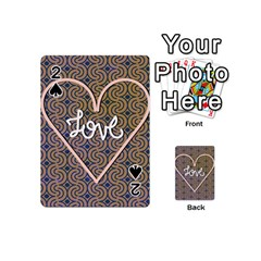 I Love You Love Background Playing Cards 54 (mini)