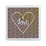 I Love You Love Background Memory Card Reader (Square)  Front