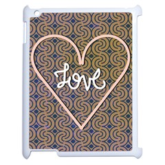 I Love You Love Background Apple iPad 2 Case (White)