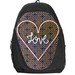 I Love You Love Background Backpack Bag