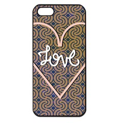I Love You Love Background Apple iPhone 5 Seamless Case (Black)