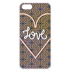 I Love You Love Background Apple iPhone 5 Seamless Case (White)