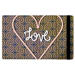 I Love You Love Background Apple Ipad 3/4 Flip Case