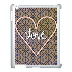 I Love You Love Background Apple iPad 3/4 Case (White)