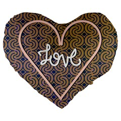 I Love You Love Background Large 19  Premium Heart Shape Cushions