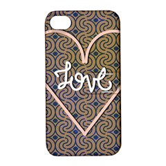 I Love You Love Background Apple iPhone 4/4S Hardshell Case with Stand