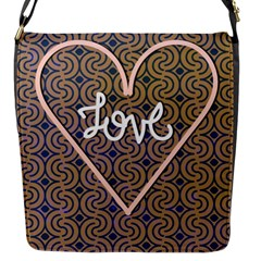 I Love You Love Background Flap Messenger Bag (S)