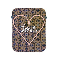 I Love You Love Background Apple iPad 2/3/4 Protective Soft Cases