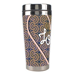 I Love You Love Background Stainless Steel Travel Tumblers