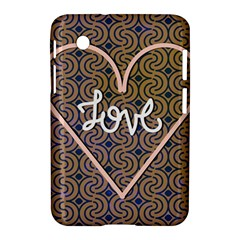 I Love You Love Background Samsung Galaxy Tab 2 (7 ) P3100 Hardshell Case