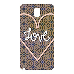 I Love You Love Background Samsung Galaxy Note 3 N9005 Hardshell Back Case