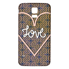 I Love You Love Background Samsung Galaxy S5 Back Case (White)