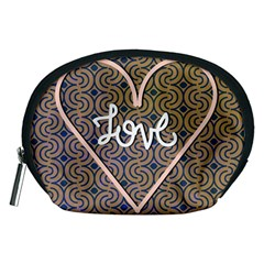 I Love You Love Background Accessory Pouches (Medium)
