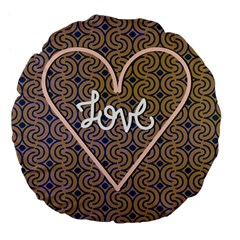 I Love You Love Background Large 18  Premium Flano Round Cushions