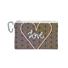 I Love You Love Background Canvas Cosmetic Bag (s)