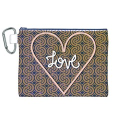 I Love You Love Background Canvas Cosmetic Bag (xl)
