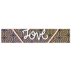 I Love You Love Background Flano Scarf (Small)