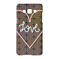 I Love You Love Background Samsung Galaxy A5 Hardshell Case