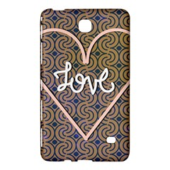 I Love You Love Background Samsung Galaxy Tab 4 (7 ) Hardshell Case