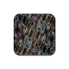 Abstract Chinese Background Created From Building Kaleidoscope Rubber Coaster (square)